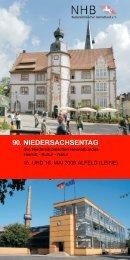 90. NIEDERSACHSENTAG - Niedersächsischer Heimatbund e.V.
