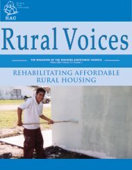 Rehabilitating Affordable Rural Housing - Housing Assistance Council