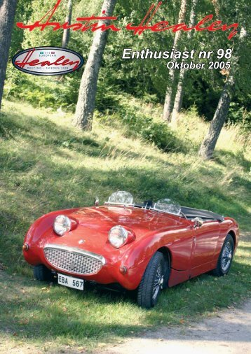 Enthusiast nr 98 - Austin Healey Club Sweden