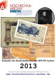 Kalender - Hochschularchiv der RWTH Aachen