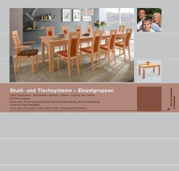 Stuhl- und Tischsysteme – Einzelgruppen - Niehoff