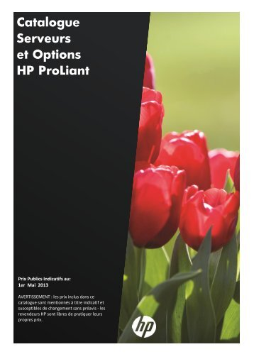 Catalogue Serveurs et Options HP ProLiant - Hewlett-Packard ...