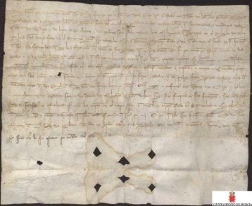 Carta plomada de Fernando IV a los concejos del Reino de Murcia ...