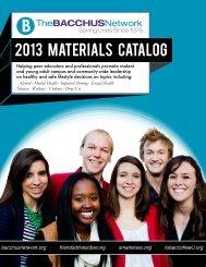 2013 Materials Catalog - Bacchus Network Store
