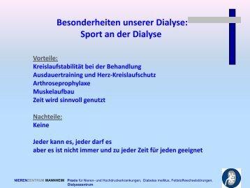 PDF: Sport an der Dialyse - und Nierenzentrum Mannheim