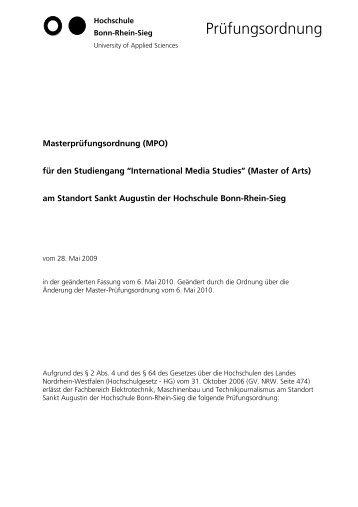 Master-Prüfungsordnung - Fachbereich Elektrotechnik ...