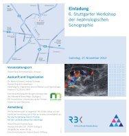 Einladung 6. Stuttgarter Workshop der ... - Netzwerk Niere - Home