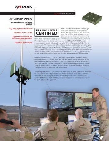 RF-7800W-OU440 Broadband Ethernet Radio Datasheet - Harris ...