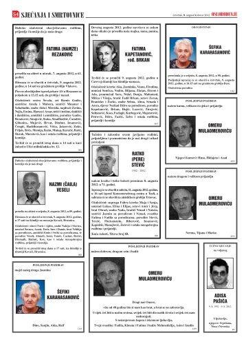 Sarajevsko oslobodjenje smrtovnice download.