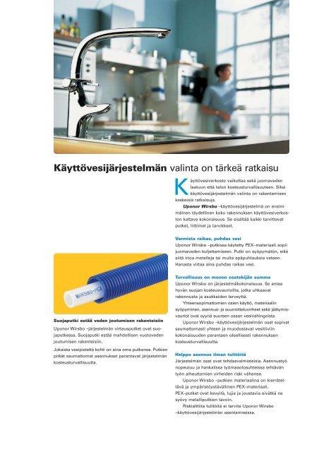Uponor Wirsbo 'K‰yttˆvesi' - Rakentaja.fi