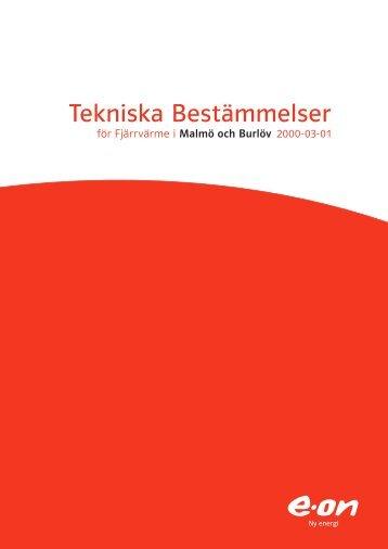 Tekniska bestämmelser för Malmö och Burlöv - E-on