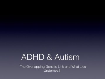 ADHD and Autism Spectrum Disorders - Autismconsultingservices ...