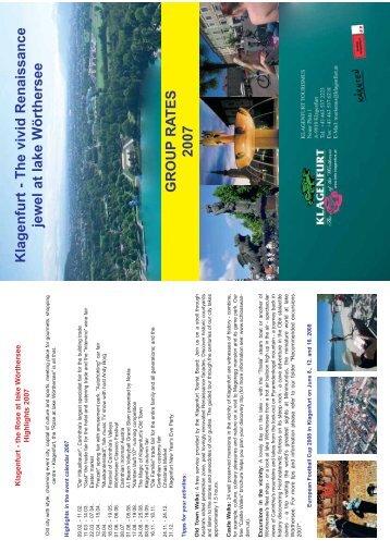 Klagenfurt - The vivid Renaissance jewel at lake Wörthersee ...