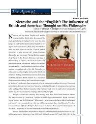 "Nietzsche and the ""English"": The Influence of ... - Nietzsche Circle"