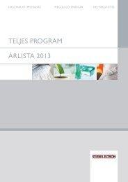 Program-árlista 2013 - Stiebel Eltron