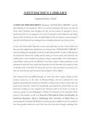 NIETZSCHE'S LIBRARY - Nietzsche Circle