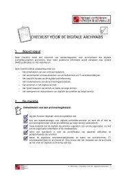 Checklist voor de digitale archivaris