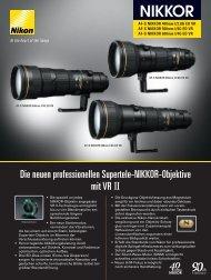 Die neuen professionellen Supertele-NIKKOR-Objektive mit ... - Nikon