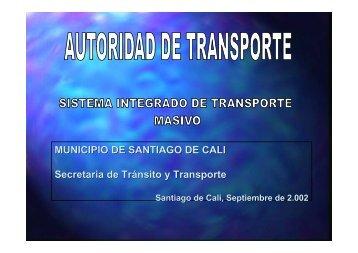 AUTORIDAD TRANSPORTE - Alcaldía de Santiago de Cali