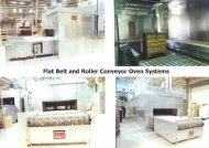 Flat Belt and Roller Conveyor Oven Systems