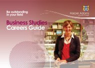 Business Studies Careers Guide - Harper Adams University College