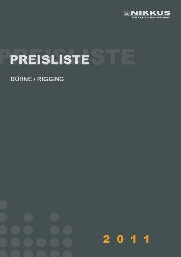 Download Preisliste Bühne und Rigging - NIKKUS ...