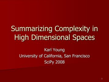 Summarizing Complexity in High Dimensional Spaces