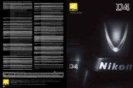 Digitale Spiegelreflexkamera Nikon D4 ... - Nikon Deutschland