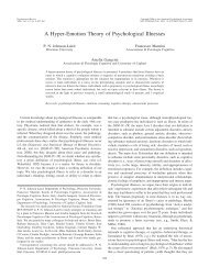 A Hyper-Emotion Theory of Psychological Illnesses - APC SPC ...