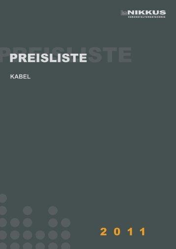Download Preisliste Kabel - NIKKUS Veranstaltungstechnik GmbH