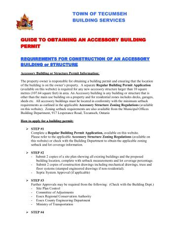 Guide to Applying for a Permit to Construct an Accessory Building