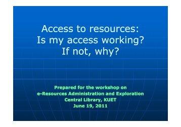 Access Problem(pdf) - KUET