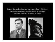 Dieter Daniels - Duchamp : Interface : Turing: - Daniel Sauter