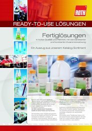 ready-to-use LösungenAuszug aus dem Sortiment der ... - Carl Roth