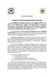 nota de prensa - Asociación Malagueña Síndrome de Asperger y TEA