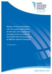 Report of the investigation into the quality and safety of ... - hiqa.ie