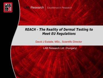 David Esdaile, Scientific Director, LAB Research ... - SOCMA.com