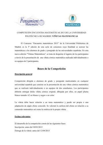 Bases de la Competición - ETSI Caminos Canales y Puertos