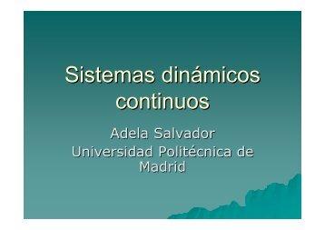 Sistemas dinámicos continuos - Universidad Politécnica de Madrid