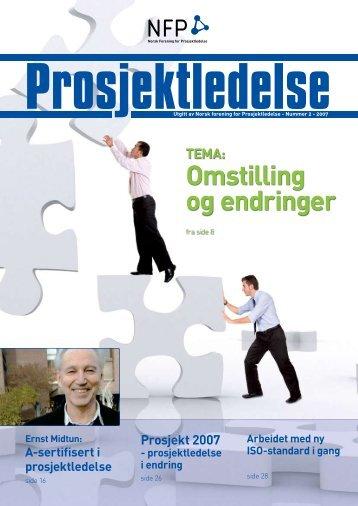 Omstilling og endringer - Norsk senter for prosjektledelse - NTNU