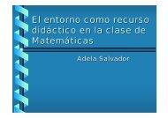 El entorno como recurso didáctico en la clase de Matemáticas