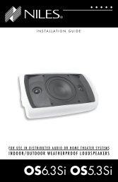 OS6.3Si OS5.3Si - Niles Audio