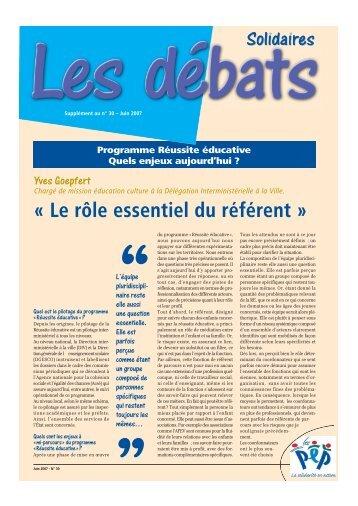 Supplément au n°30 sur la Réussite éducative - Pep