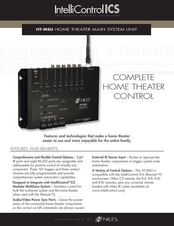 COMPLETE HOME THEATER CONTROL - Niles Audio