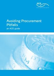 Avoiding Procurement Pitfalls - Association for Consultancy and ...