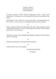 Uchwała nr IV/25/11 Rady Miasta Otwocka z dnia 8 lutego 2011 r. W ...