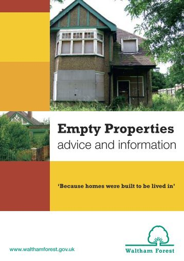 Empty Properties - Waltham Forest Council