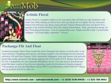 Artistic Floral Pachanga Flit And Float - RunMob