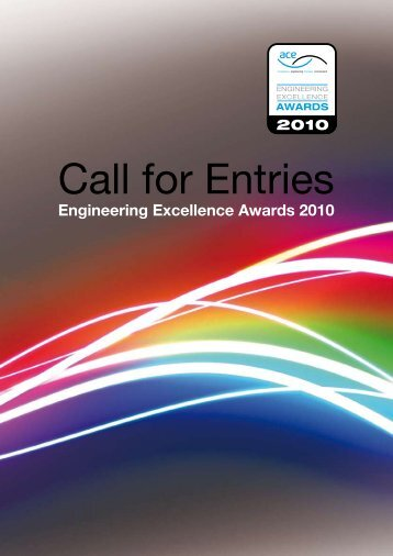 Call for Entries - Association for Consultancy and Engineering