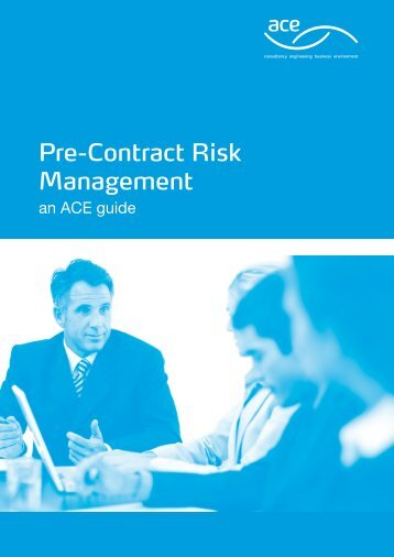 Pre-Contract Risk Management - Association for Consultancy and ...